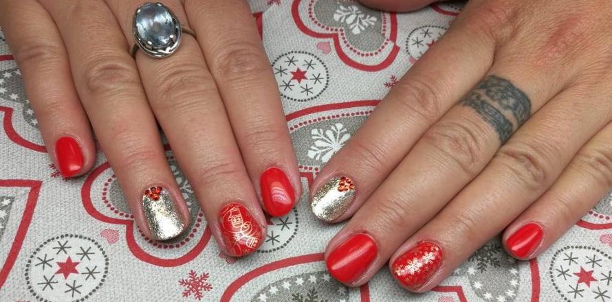 Vánoční nehty inspirace