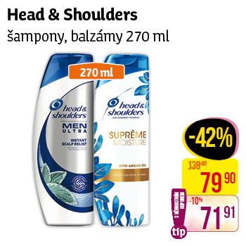 Head & Shoulders - Šampony, balzámy 270ml