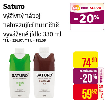 SATURO Chocolate 330ml