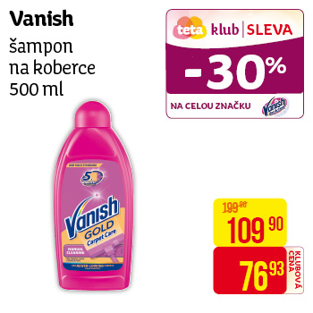 Vanish - Šampon na koberce 500ml