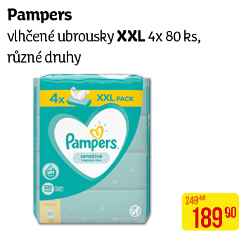 Pampers wipes (4x80ks/fol) Fresh Clean