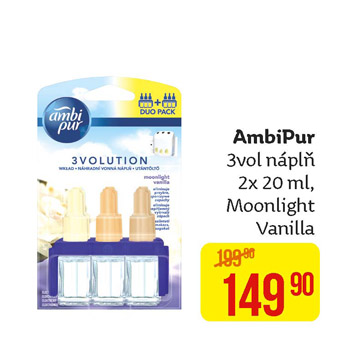 Ambi Pur - 3vol náplň (2× 20 ml) Moonlight Vanilla