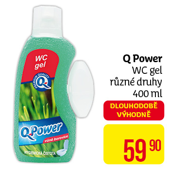 Q power wc gel 400ml   oceán(modrý)