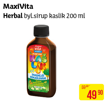 MaxiVita Herbal byl.sirup kaslik 200ml