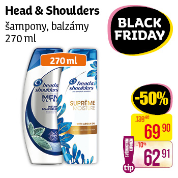 Head & Shoulders - šampony, balzámy (270 ml)