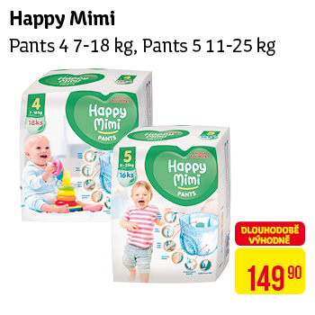 Happy Mimi - Pants 4 11-18kg, Pants 5 11-25kg