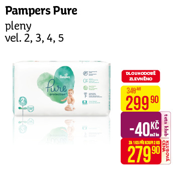 Pampers - Pure pleny vel. 2, 3, 4, 5
