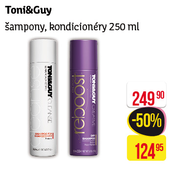 Toni & Guy - Šampony, kondicionéry 250ml