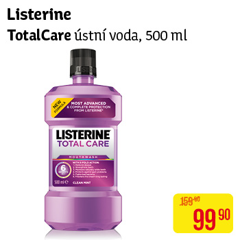 Listerine Total Care ústní voda, 500 ml