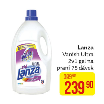 Lanza - Vanish Ultra 2v1 gel na praní (75 PD)