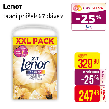 Lenor prášek (67PD/kra) color Gold
