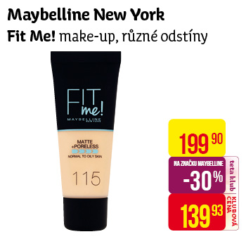 Maybelline New York - make-up Fit Me!, různé odstíny