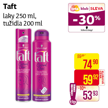 Taft - laky (250 ml), tužidla (200 ml)