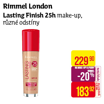 Rimmel London - Lasting Finish 25h make-up, různé odstíny