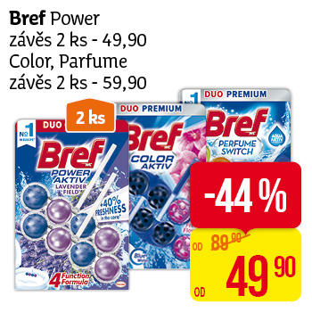 Bref Power závěs 2 ks - 49,90 Color, Parfume závěs 2 ks- 59,90