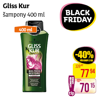 Gliss Kur - šampony (400 ml)