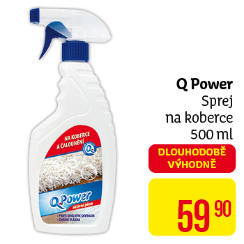Q power sprej na koberce,  500ml