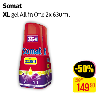 Somat  - XL gel All in One 2x630ml