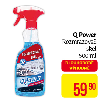Q Power - rozmrazovač skel 500 ml