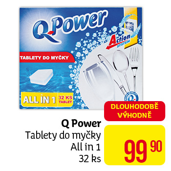 Q Power - tablety do myčky All in 1 32 ks