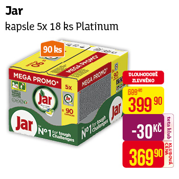 Jar - kapsle (5× 18 ks) Platinum