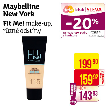Maybelline New York - Fit Me! make-up, různé odstíny