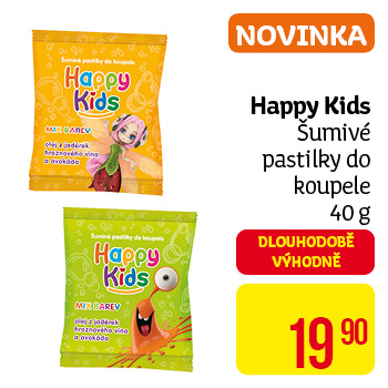 Happy Kids - šumivé pastilky do koupele (40 g) NOVINKA