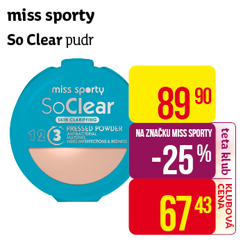 miss sporty So Clear pudr