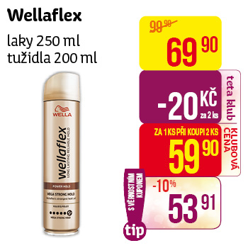 Wellaflex laky 250 ml, tužidla 200 ml