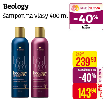 Beology šampon 400ml Moisture