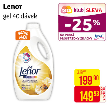 Lenor - Gel 40 dávek