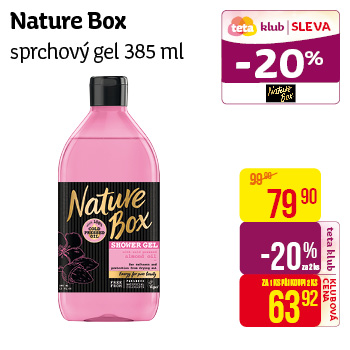 Nature Box - sprchový gel 385 ml