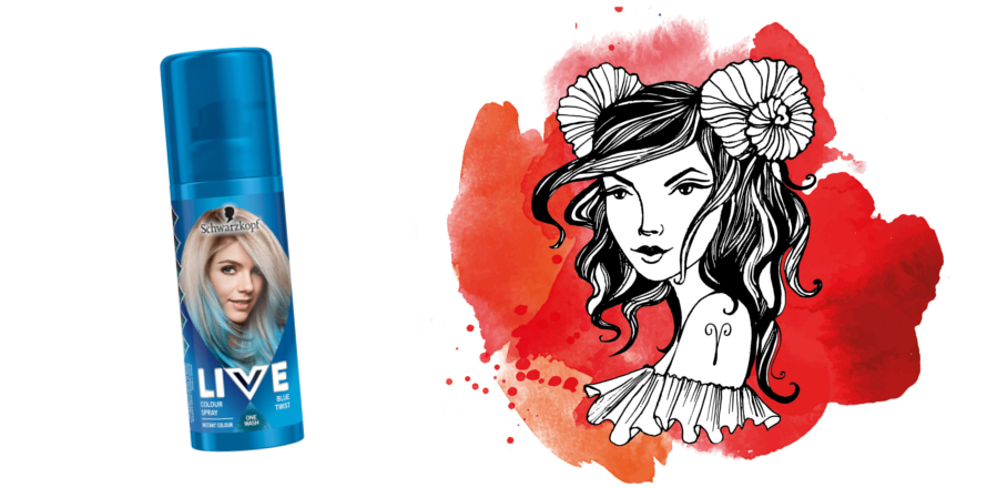 Schwarzkopf Live Vlasový make-up sprej Blue Twist