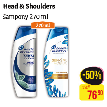 Head & Shoulders - Šampony 270ml