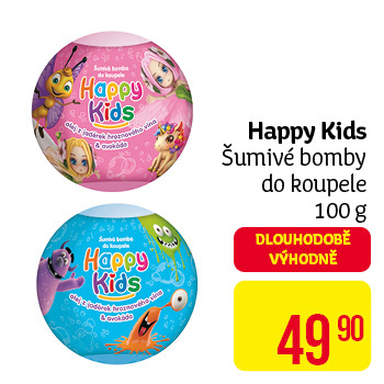 Happy Kids - šumivé bomby do koupele 100 g