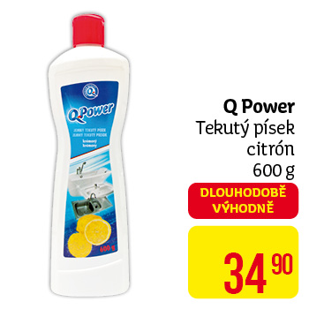 Q power tekutý pís 600g  citron