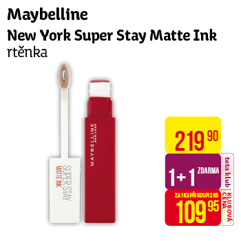 Maybelline New York - Super Stay Matte Ink rtěnka