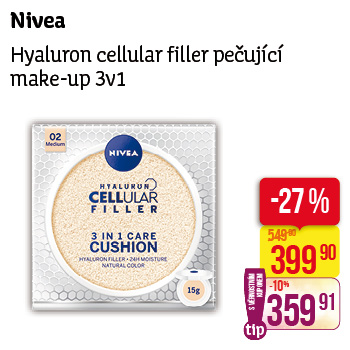 Nivea - Hyaluron cellular filler pečující make-up 3v1