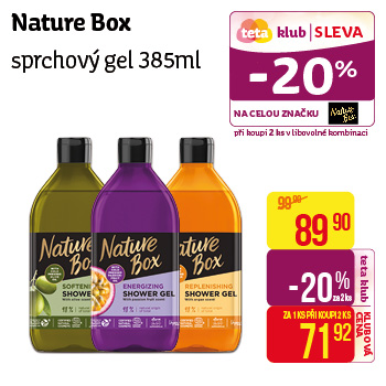 Nature Box - Sprchový gel 385ml