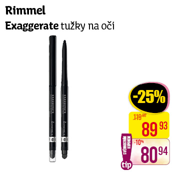 Rimmel London - Exaggerate tužky na oči