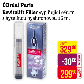 L'Oréal Paris - sérum Revitalift Filler (16 ml)