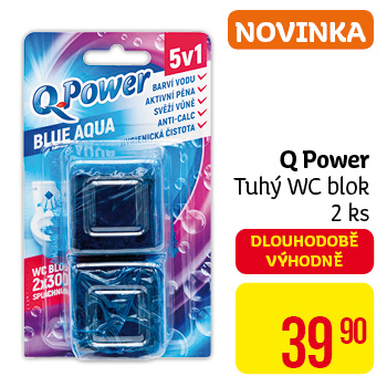 Q power Blue blok nádrž wc (2ks/bli)