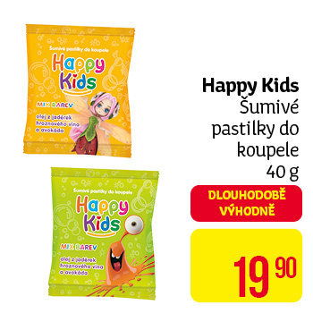 Happy Kids - šumivé pastilky do koupele 40 g