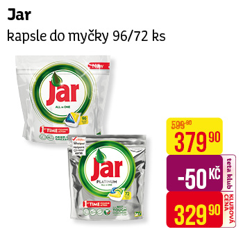 Jar - kapsle do myčky (96/72 ks)