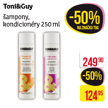 Toni&Guy - Šampony, kondicionéry 250ml