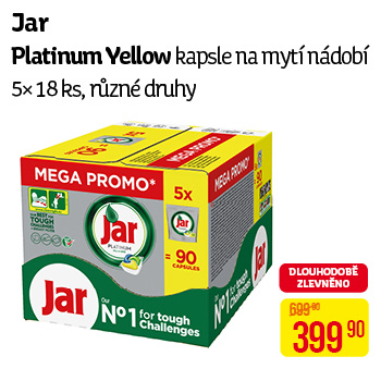 Jar - kapsle Platinum Yellow (5× 18 ks)