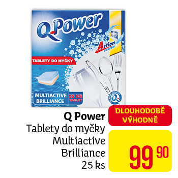 Q Power - tablety do myčky Multiactive Brilliance 25 ks