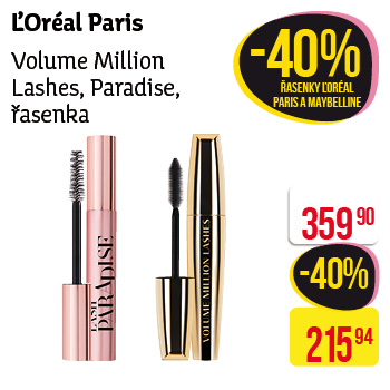 L'Oréal Paris - Volime million lashes, řasenka