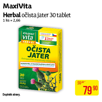 MaxiVita - Herbal očista jater 30 tablet