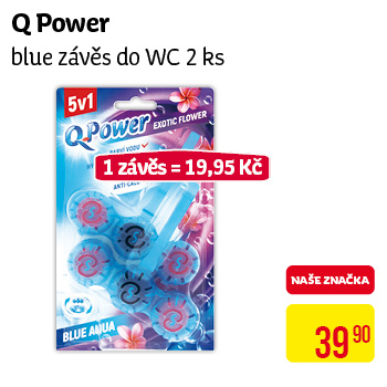 Q Power - Blue závěs do wc 2ks